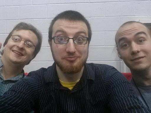 (L2R) Alex Dewey, Aaron McGuire, Alex Arnon