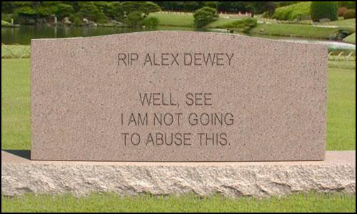 rip alex dewey