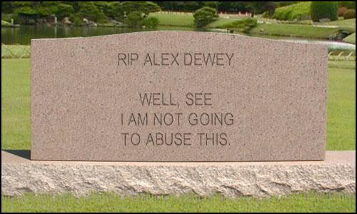 rip alex dewey