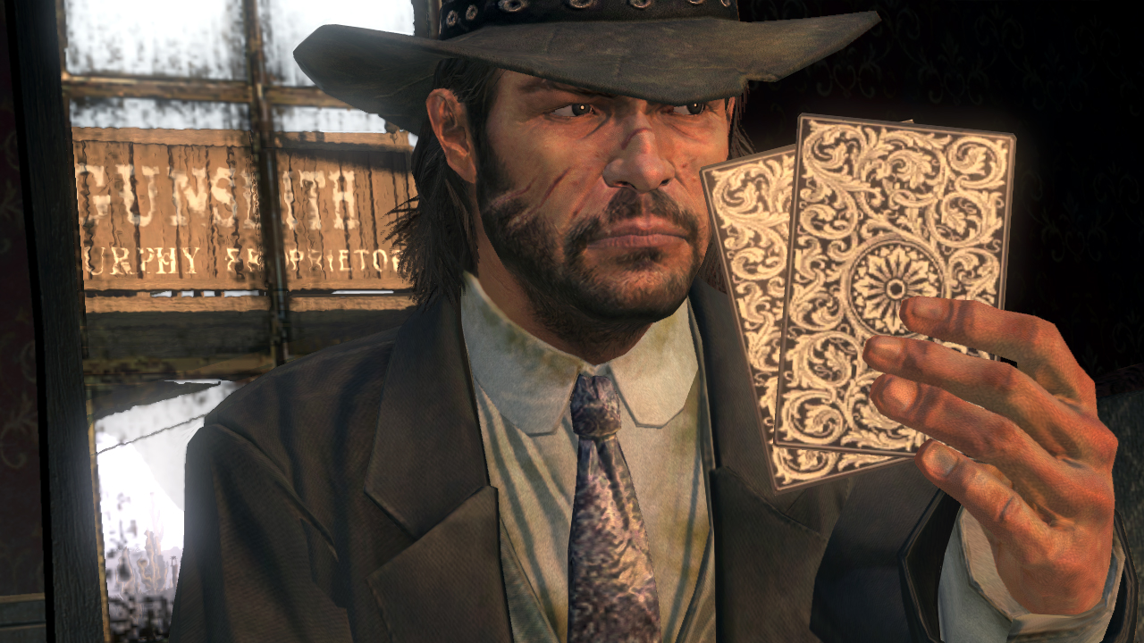John Marston, the video game Popovich, bluffing.