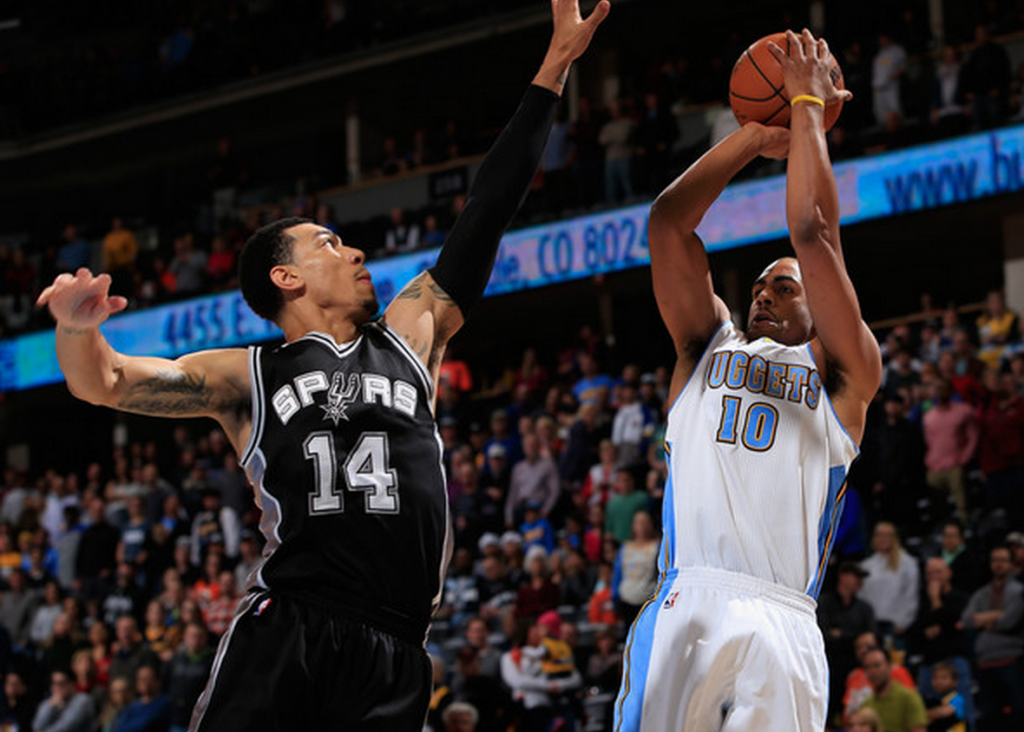 Danny Green blocks Afflalo ( Doug Pensinger/Getty Images)
